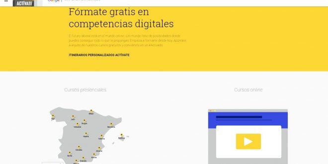 Fórmate gratis en competencias digitales con Google Actívate