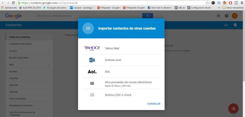 Cómo exportar contactos desde Windows Phone a Android usando Gmail y Outlook