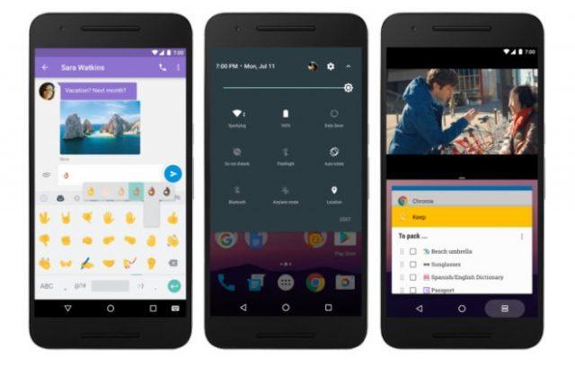 las nuevas funciones en la a versión final de Android 7.0 Nougat ya está disponible en Nexus