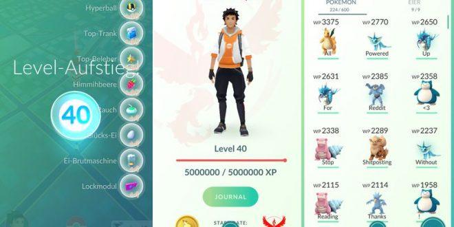¿Cuál es el máximo nivel en Pokémon GO?