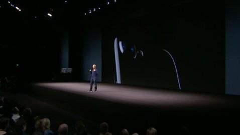 iPhone 7 imagen keynote con doble cámara.