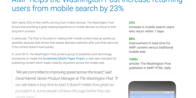 Tercer boletín informativo de Accelerated Mobile Pages (AMP)