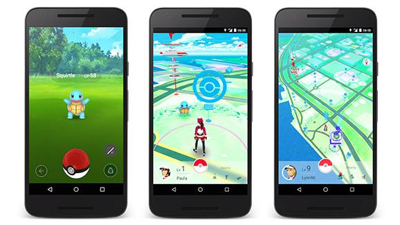 pokemon go pantallas