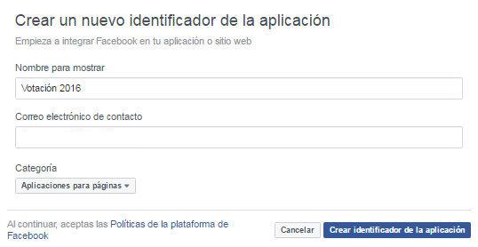 crear aplicacion facebook