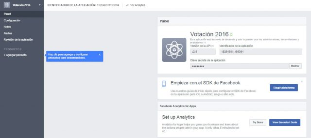 guardamos aplicacion facebook id token