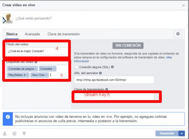 crear video vivo facebook
