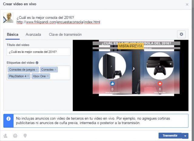 emitir en facebook videos en directo ¿Cómo hacer encuestas con Facebook Live Poll? Viralidad asegurada