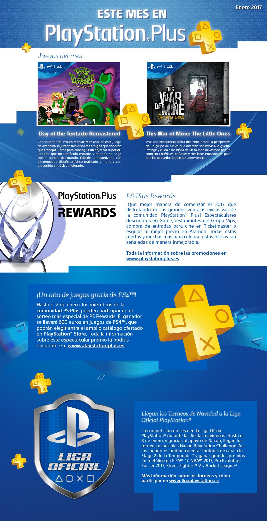 Playstation Plus ofertas en enero 2017