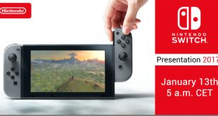 Nintendo Switch en la presentación oficial que tendrá lugar el 13 de enero