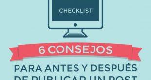 Infografía con 12 consejos para publicar un post