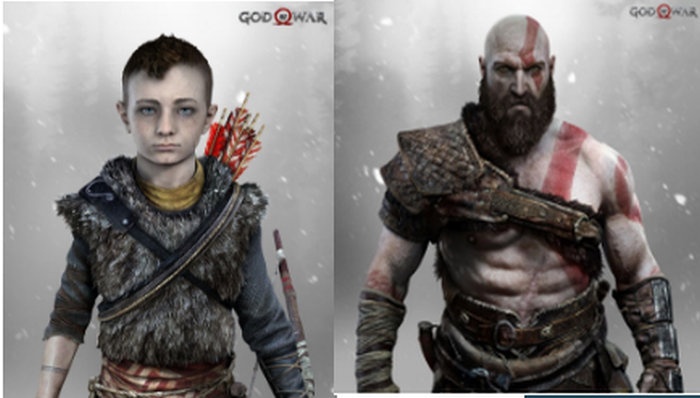god of war personajess. Kratos y su hijo