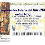 Widget comprobador lotería del Niño 2017 para tu web o blog