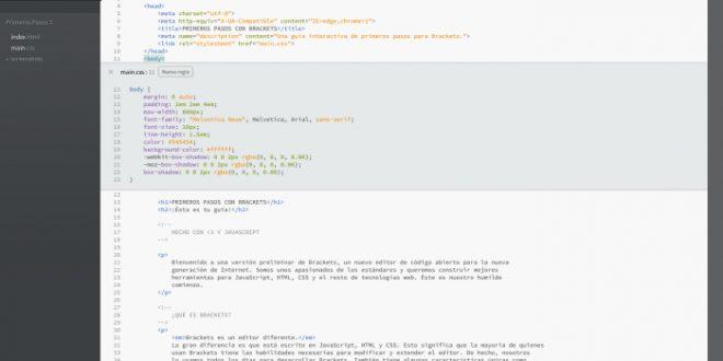 Brackets un gran editor para diseño web