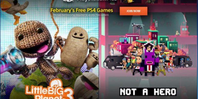 Los juegos gratis para PS4 para los suscriptores de Playstation Plus en febrero. LittleBigPlanet 3 y Not a Hero