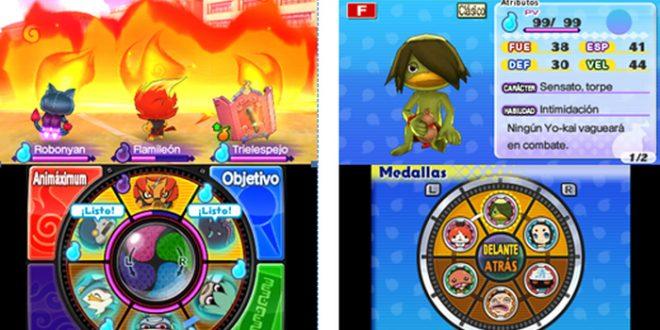 Nintendo 3DS con YO-KAI WATCH 2: Fantasqueletos y YO-KAI WATCH 2: Carnánimas