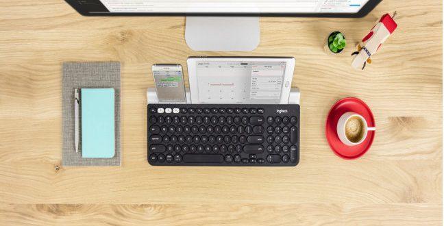 Logitech propone los accesorios más prácticos y novedosos para un San Valentín en clave geek..Teclado Logitech K780 Multi-dispositivo