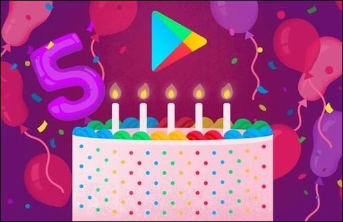 Google Play cumple 5 años. Top 5 en apps, juegos, ...