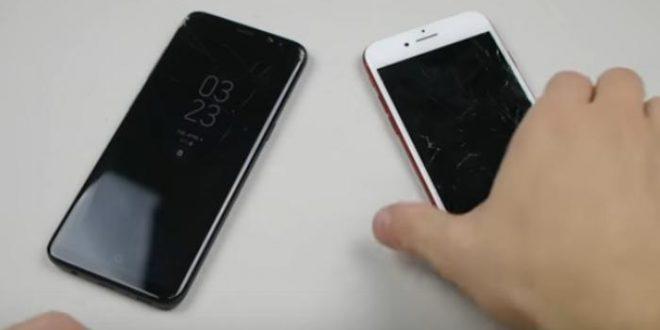 ¿Qué teléfono es más resistente iPhone 7 o Samsung Galaxy S8?