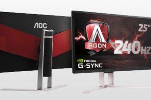 AOC presenta el monitor de AGON de 240Hz con G-SYNC para los gamers más exigentes
