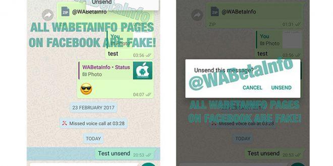 WhatsApp permitirá borrar los mensajes enviados