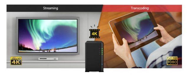 Servidor de Vídeo y Música. Servidor de StreamingTranscodificación de vídeo Ultra HD 4K en Synology DS216Play con DSM 6.1