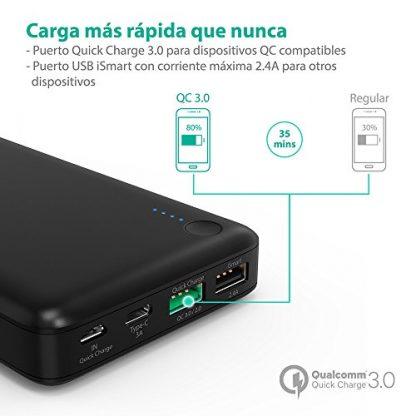 Powerbank con carga rápida QC3.0 y carga inteligente iSmart