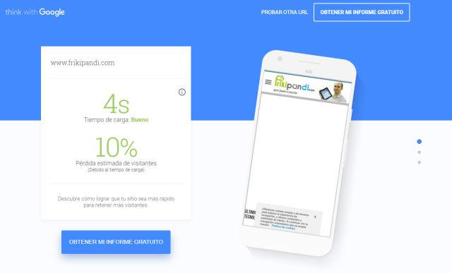 Usar la Web Testmysite de Google