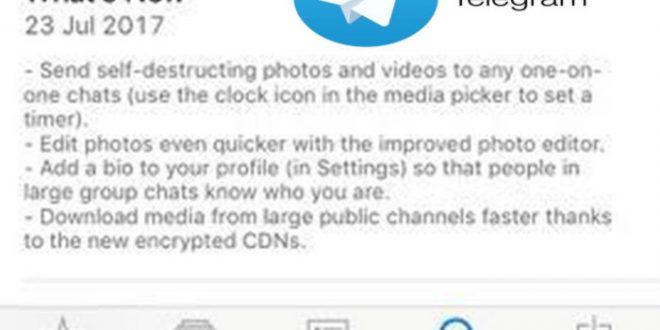 Telegram adopta la mensajería efímera