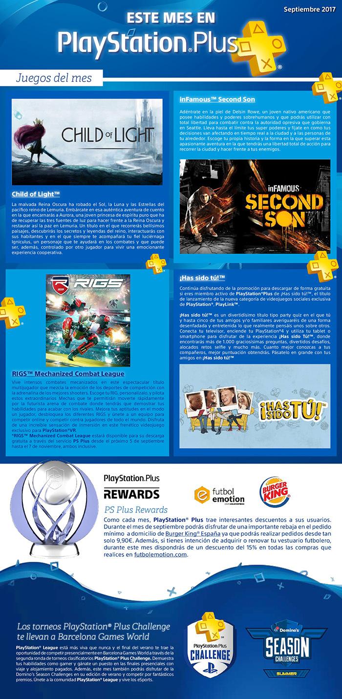 Juegos gratis con tu suscripción de PlayStation Plus en Septiembre 2017