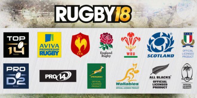 RUGBY 18 y sus 65 equipos oficiales saldrán a la venta el próximo 27 de octubre