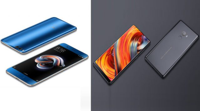 Xiaomi Mi Note 3 y Xiaomi Mi MIX 2 son los nuevos smartphones chinos de Xiaomi.