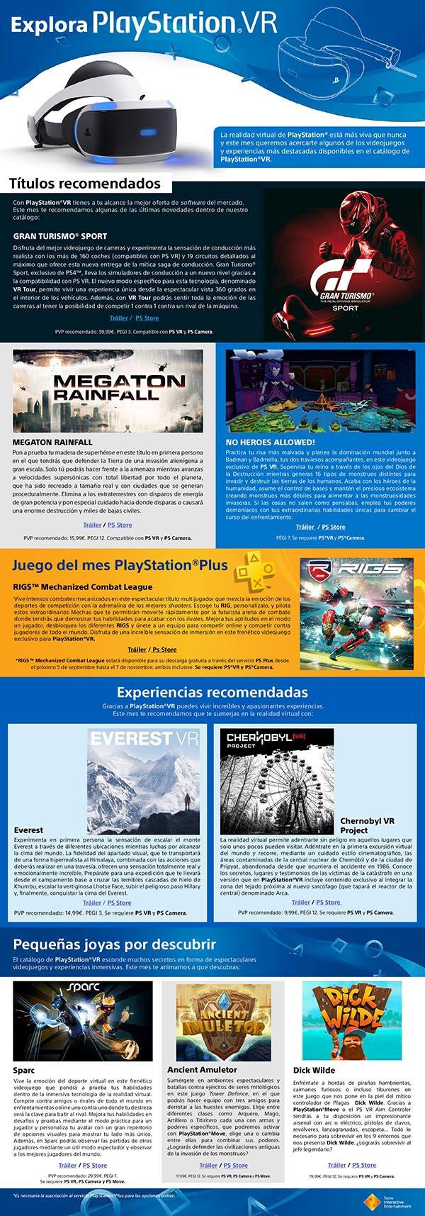 Explora PlayStation VR - Octubre 2017