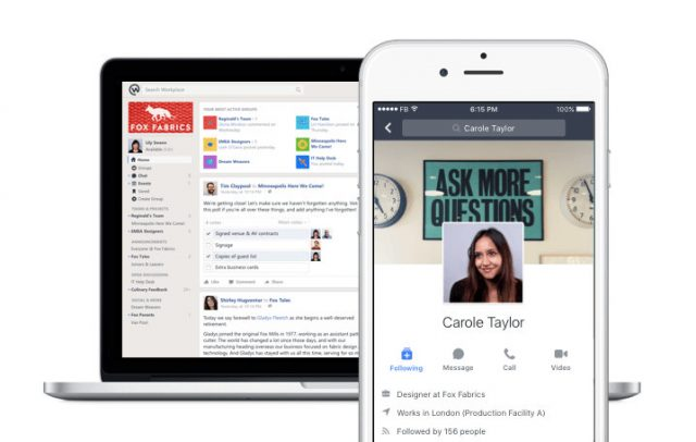 Facebook lanza la aplicación para escritorio de Workplace Chat