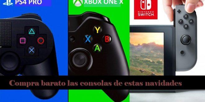 Compra barato. Adelanta tus compras Nintendo Switch, Playstation 4 y Xbox One X dispositivos del año para la Navidad