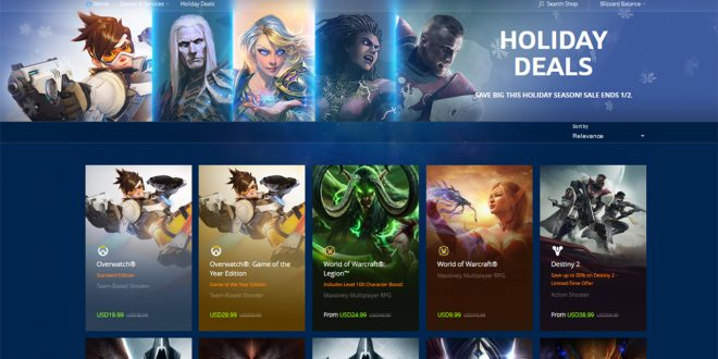 Ofertas festivas de Blizzard: Grandes descuentos en Overwatch, StarCraft II, StarCraft: Remastered, World of Warcraft, Diablo III y Heroes of the Storm