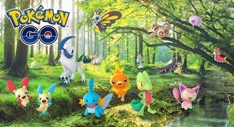 Actualización Pokémon GO. 50 nuevos Pokemones de la tercera generación y añade efectos basados en el tiempo meteorológico