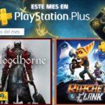 Juegos gratis en Marzo del 2018 con playstation Plus. Ratchet & Clank, Bloodborne y Kyurinaga's Revenge