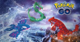 Pokemon GO. Groudon y Kyogre han vuelto para unirse a Rayquaza en una semana legendaria de Combates en Incursiones.