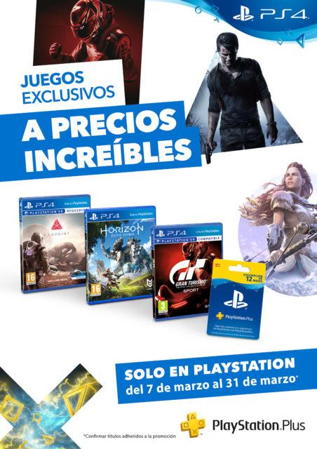 Los videojuegos exclusivos de PlayStation 4 y el servicio PlayStation Plus, de rebajas durante el mes de marzo. Los videojuegos exclusivos de PlayStation 4 y el servicio PlayStation Plus, de rebajas durante el mes de marzo.