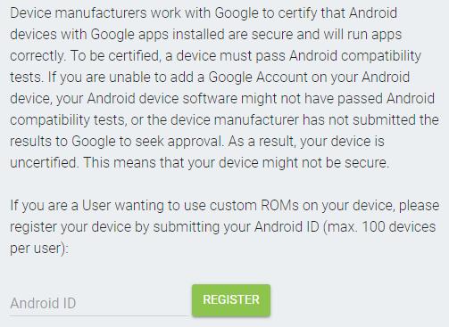 Google bloquea el acceso a sus aplicaciones propias desde dispositivos sin certificar