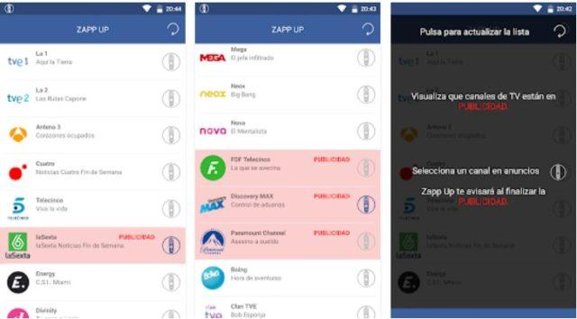 Zapp Up, la app para evitar los cortes publicitarios en TV