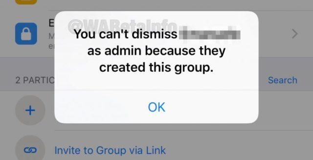 WhatsApp acaba de lanzar la función de dimitir un administrador de un grupo