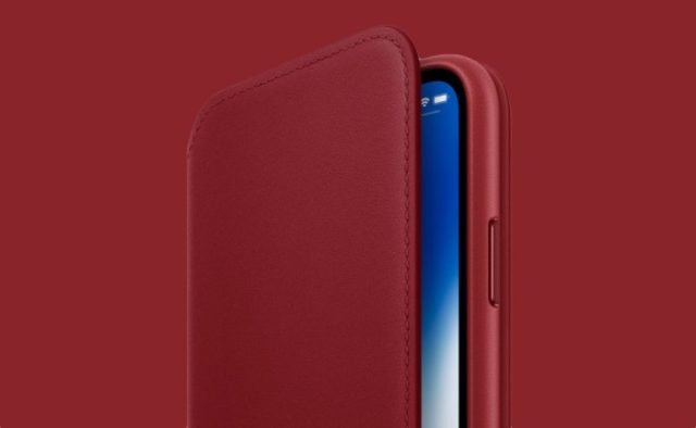 Apple anuncia la funda iPhone X Leather Folio en rojo