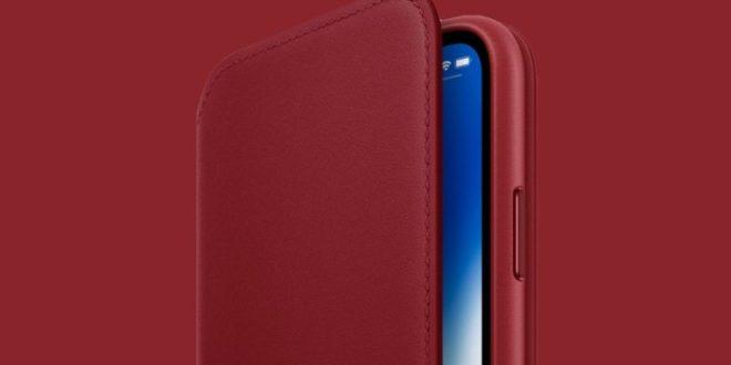 Apple anuncia la funda iPhone XLeather Folio en rojo