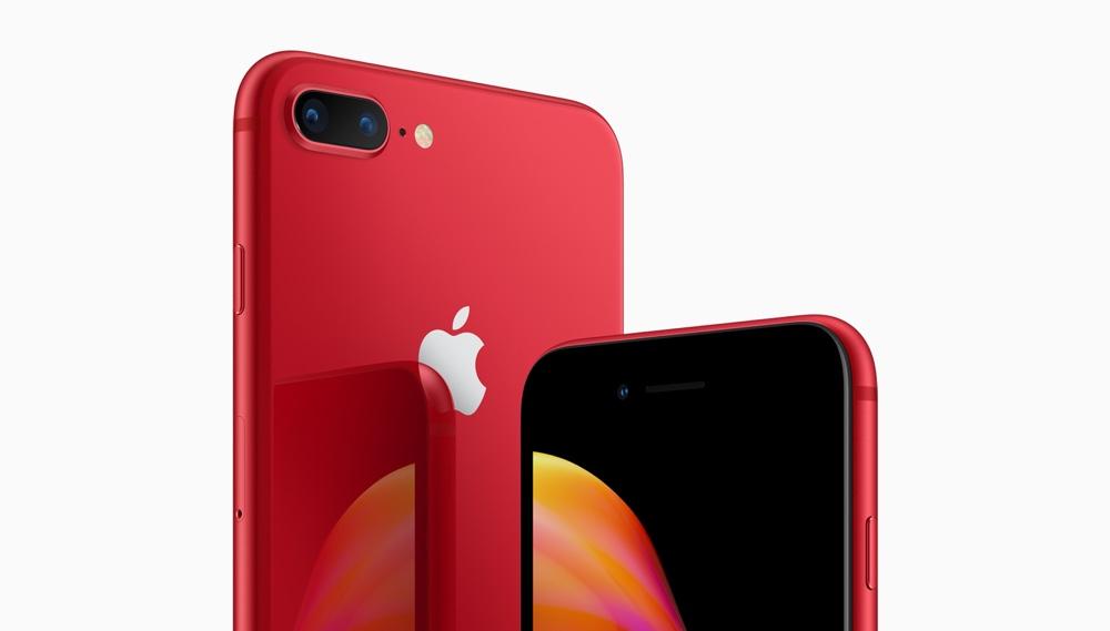PRODUCT RED de iPhone 8 y iPhone 8 Plus en rojo