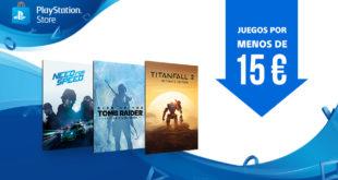 Novedades semanales de PlayStation Store. Juegos por menos de 15 €