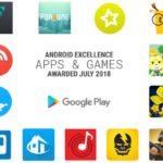 Google elige a las mejores aplicaciones en Android Excellence Julio 2018