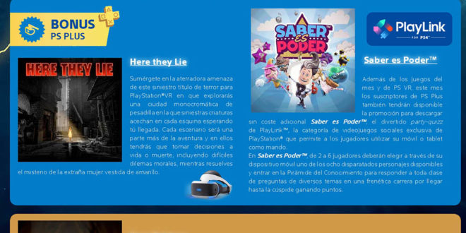 Juegos gratis con tu suscripción PlayStation Plus - Agosto 2018