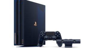 Esta consola conmemora la venta mundial total de hardware de PlayStation que supera ya los 500 millones de unidades. PlayStation presenta la PS4 Pro 500 Million Limited Edition. La PS4 Pro especial de edición limitada, ha sido creada como agradecimiento a la fidelidad de los fans de PlayStation