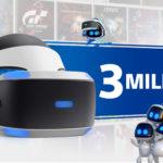Las ventas de Playstation VR superan los 3 millones de unidades en todo el mundo